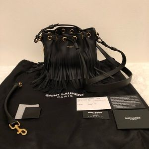 Brand NWT YSL Fringe Bucket Bag
